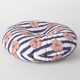 Pink hibiscus pattern Floor Pillow