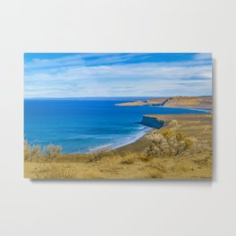 Landscape View from Punta del Marquez Viewpoint, Chubut, Argentina Metal Print