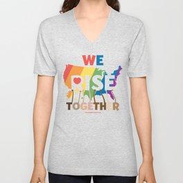 We Rise Together Unisex V-Neck
