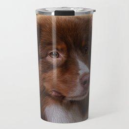 Australian Shepherd  Aussie Digital Art Travel Mug