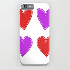 Red and Purple Hearts - 4 hearts iPhone 6s Slim Case