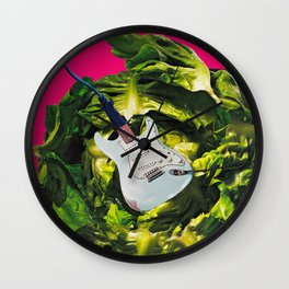 Plugging In and Rocking Out to the Power of Greens Wall Clock