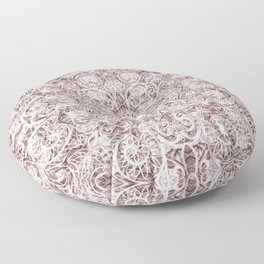Mandala Lace on satin Floor Pillow