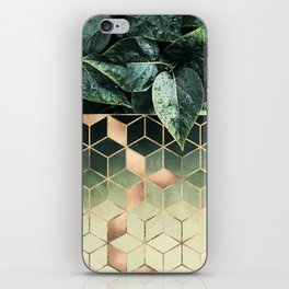 Leaves And Cubes 2 iPhone Skin