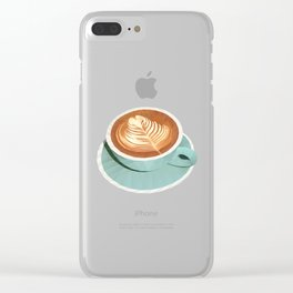 Coffee with Latte Art Polygon Art Clear iPhone Case