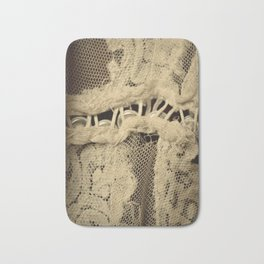 Buttons & Lace Bath Mat