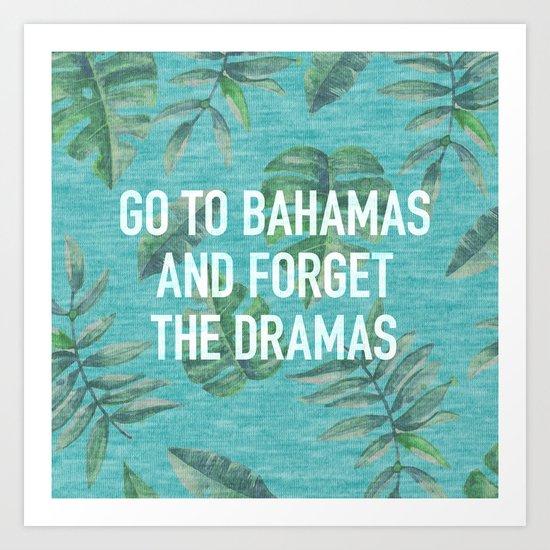 Go to Bahamas Art Print