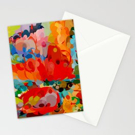 color bubble storm Stationery Cards