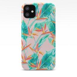 Birds of Paradise Blush iPhone Case
