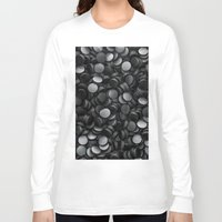 hockey Long Sleeve T-shirts featuring Hockey pucks by GrandeDuc
