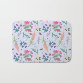 Violets Honeysuckle & Lavender Pattern Bath Mat