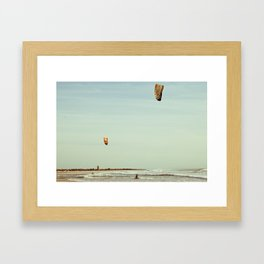 Kite surf  Framed Art Print