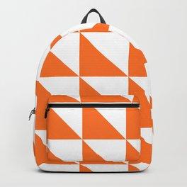 Geometric Pattern 01 Orange Backpack