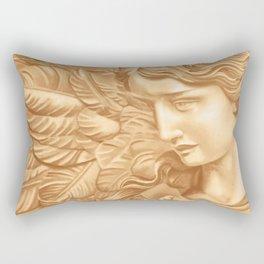 Golden angel Rectangular Pillow