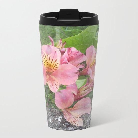 small flowers of tenerife Metal Travel Mug