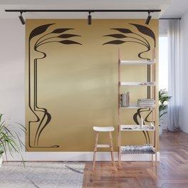 Golden Art nouveau Wall Mural