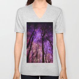 Purple sky Unisex V-Neck