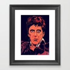 Tony Montana Framed Art Print
