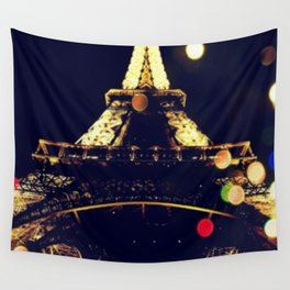 Paris by night Wall Tapestry