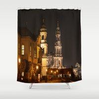 baroque Shower Curtains featuring Dresden Baroque  by DuniStudioDesign
