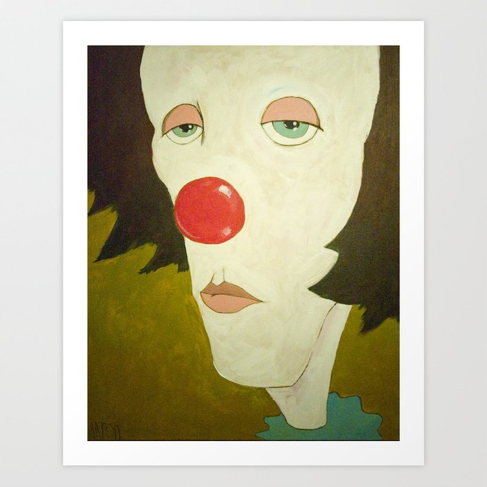 Johnny The Clown Art Print