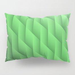 Gradient Green Diamonds Geometric Shapes Pillow Sham