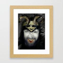 Demon Warrior Framed Art Print