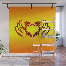 heart winged Wall Mural
