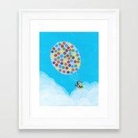 pixar Framed Art Prints featuring Up - Disney/Pixar by Justine Shih