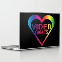 video games Laptop & iPad Skins featuring love video games by seb mcnulty
