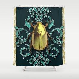 GOLDEN BEETLE Shower Curtain