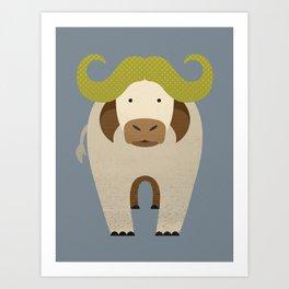 Whimsy Cape Buffalo Art Print