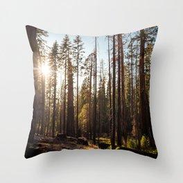 Peeking Sunshine Throw Pillow