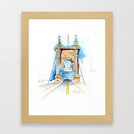 Roebling Bridge Framed Art Print
