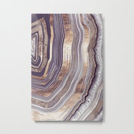 Tribeca Rose Gold Abstract Metal Print