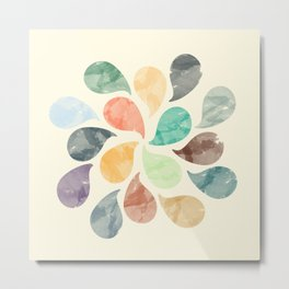 Colorful Water Drops (Watercolor version) Metal Print