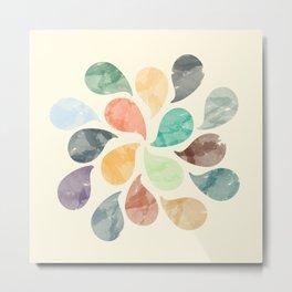 Colorful Water Drops (Watercolor version) Metal Print