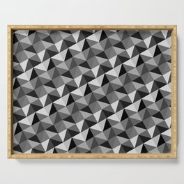 Pattern of triangles in gray shades Serving Tray
