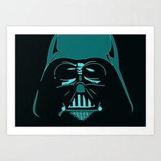 Tron Darth Vader Outline Art Print