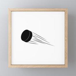 Ice Hockey Puck Framed Mini Art Print