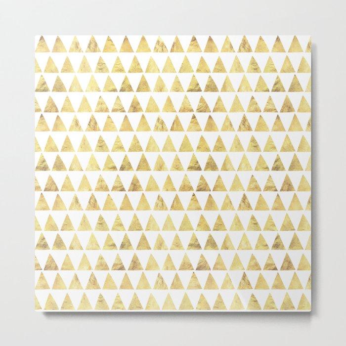 Triangles gold 6 Metal Print