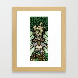Stained Glass Druid Framed Art Print