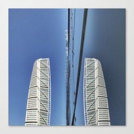 Skyscraper Reflected Canvas Print