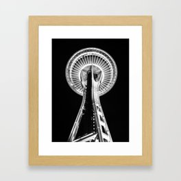 Seattle Space Needle B&W Framed Art Print