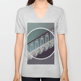 Stairway to heaven - dot circle graphic Unisex V-Neck
