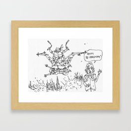 Teenage Mutant Dinosaur Robots by Max (from Farts 'N' Crafts #6) Framed Art Print