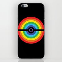 pokeball iPhone & iPod Skins featuring Rainbow Pokeball by Hi 5 Graphics