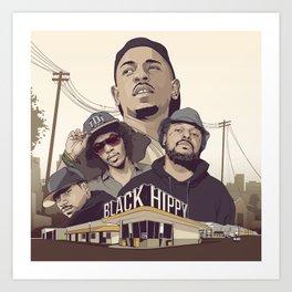 Black Hippys Art Print