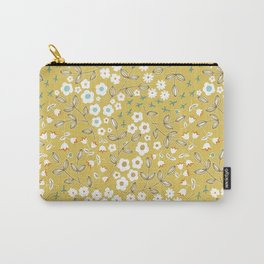 Ditsy Mustard Carry-All Pouch