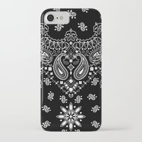 moschino iPhone & iPod Cases featuring black and white bandana by Marta Olga Klara